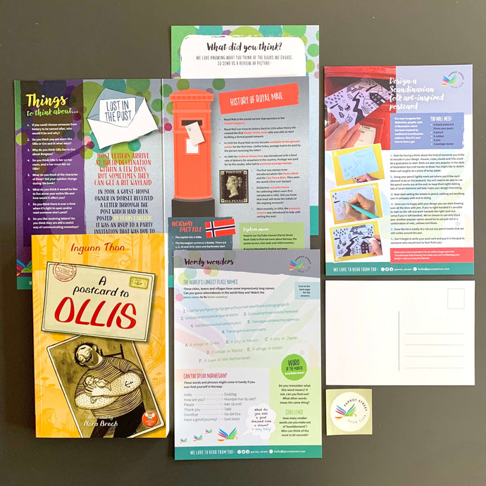A Postcard to Ollis and accompanying activity pack.