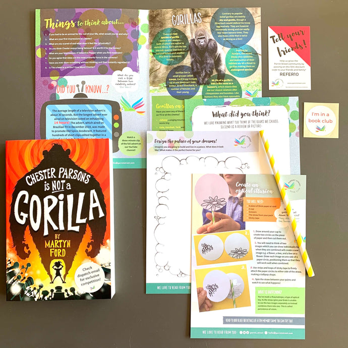 Chester Parsons is Not A Gorilla by Martyn Ford and accompanying activity pack.