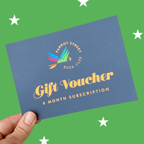 Gift voucher for children's subscription book club.