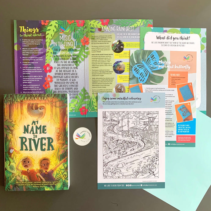 My Name is River by Emma Rea and accompanying activity pack.