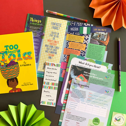 Too Small Tola by Atinuke and accompanying activity pack.