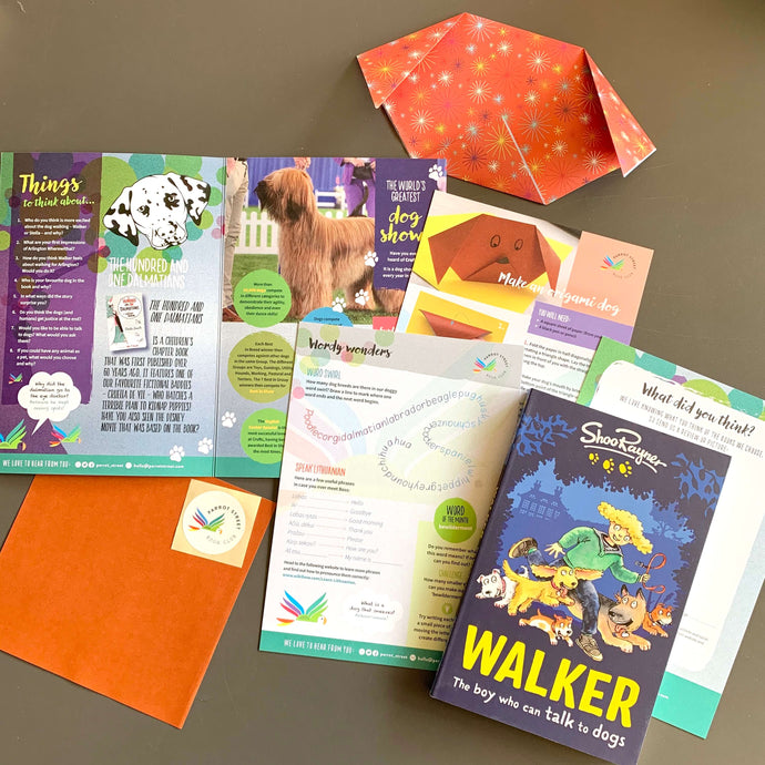 Walker: The Dog Who Can Talk to Dogs by Shoo Rayner and accompanying activity pack.