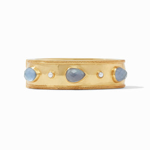 Cassis Statement Hinge Bangle Iridescent Slate Blue