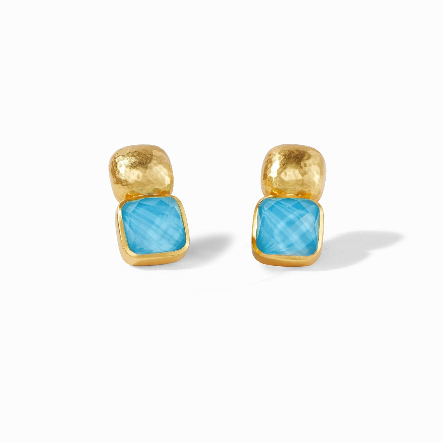 Catalina Earring Iridescent Pacific Blue