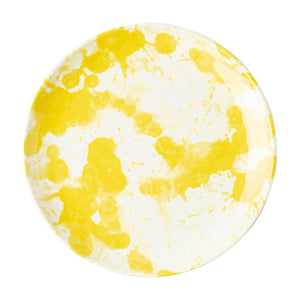 Splatter and Spin Melamine Yellow Dessert/Salad Plate