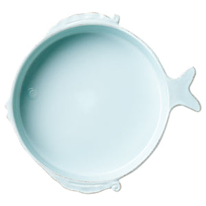 MELAMINE LASTRA FISH AQUA MEDIUM SERVING BOWL