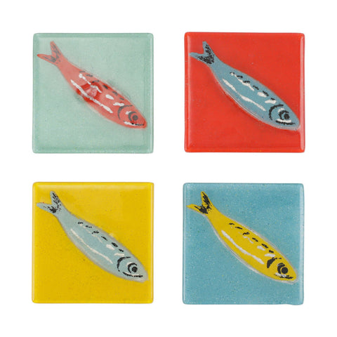 PESCI COLORATI ASSORTED FISH COASTERS - SET OF 4
