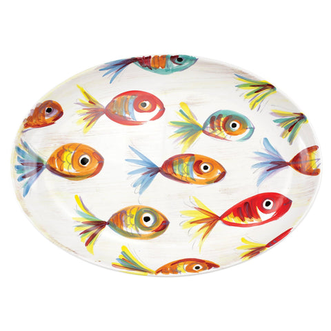 PESCI COLORATI OVAL PLATTER