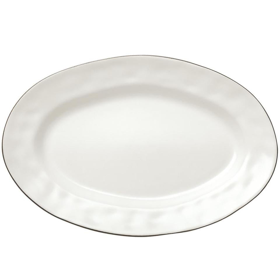 Cantaria Small Oval Platter Matte White