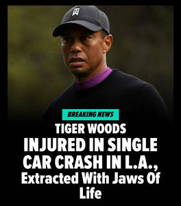 TIGER WOODS IN SERIOUS CAR ACCIDENT