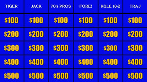 Tiger for $500, please, Alex: An unauthorized history of golf on Jeopardy!
