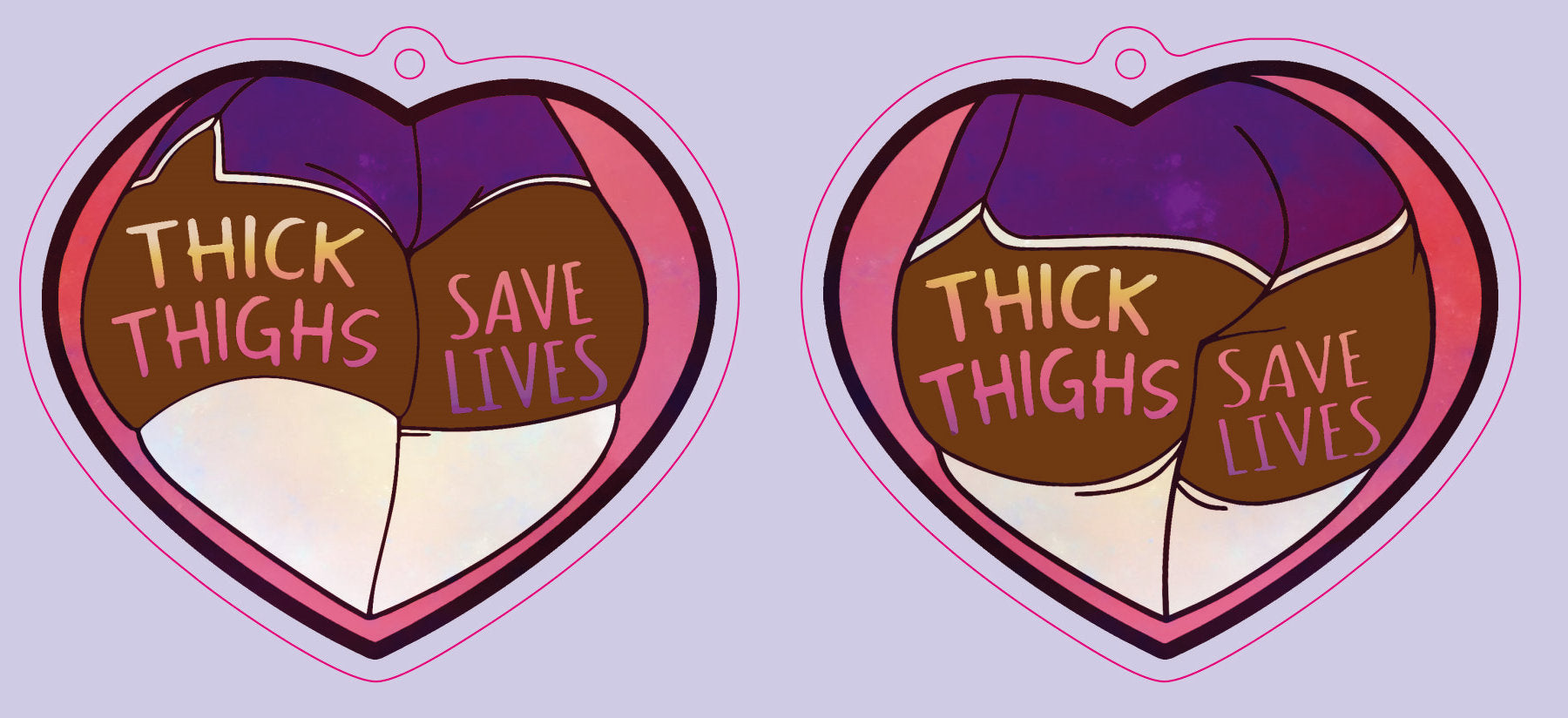 Thick Thighs Keychain