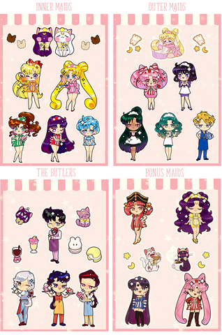 Maid Sticker Sheets
