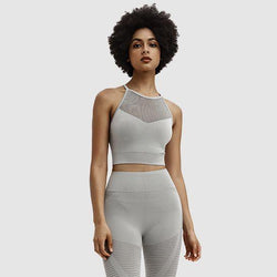 The AmourBae Women Eminence Gray 2 Piece Workout Set | Athletic Outfit