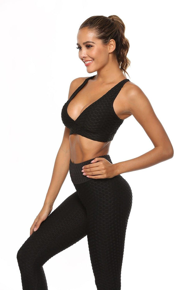 AmourBae Anti-Cellulite Push Up Tops | Women's Ruched Sports Bra