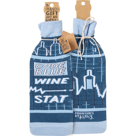 Bottle Cover - Code Blue