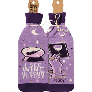 Wine In Your Future Bottle Sock