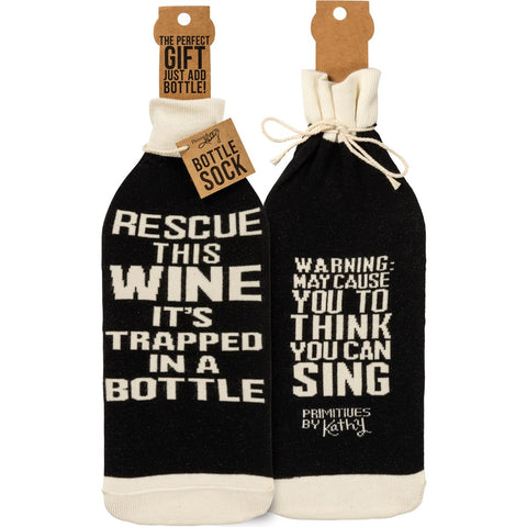 Rescue Wine It's Trapped Bottle Sock