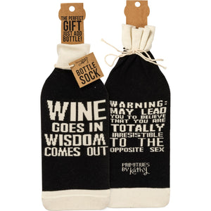 When Wine Goes In Bottle Sock
