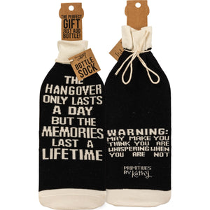 Hangover Lasts A Day Bottle Sock