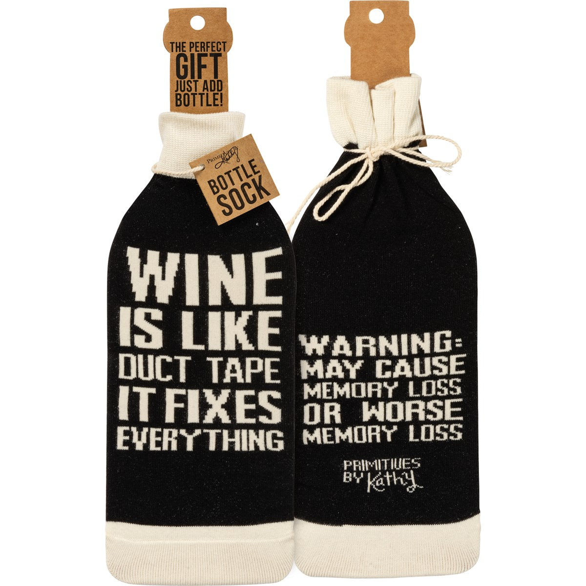 Wine Is Like Duct Tape Bottle Sock