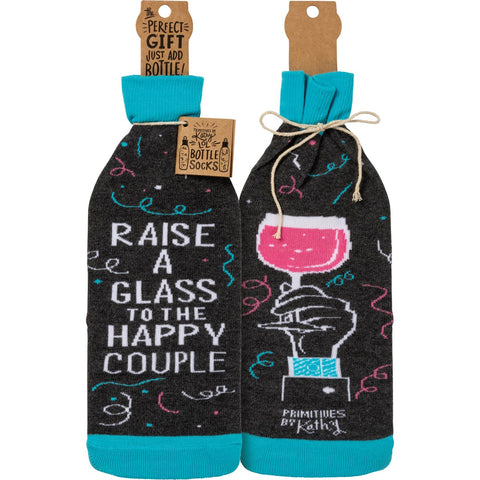 Raise A Glass Bottle Sock