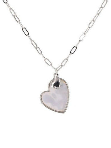 Mother of Pearl Heart Necklace