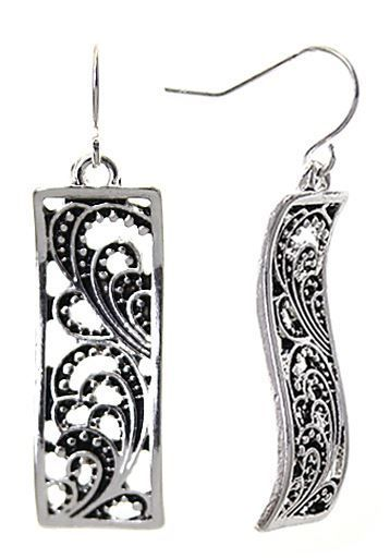 Filigree Rectangular Earrings