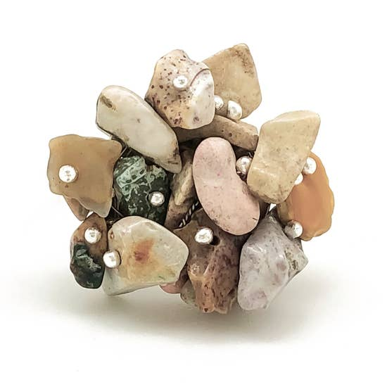 Spirit Stone Cuff Ring Natural