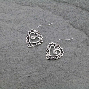 Scroll Heart Earrings