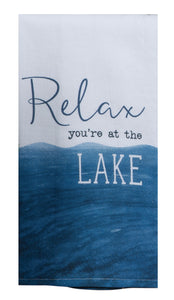 Relax You're at the Lake Towel
