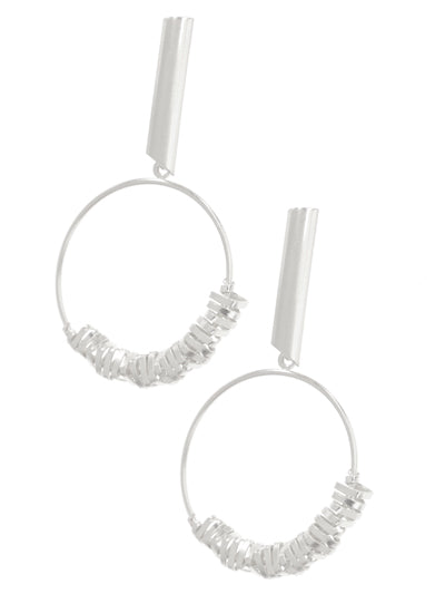 Open Ring Post Earrings