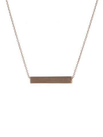 Satin Bar Necklace Gold Tone