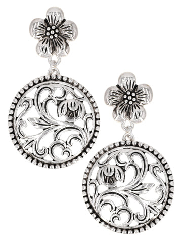 Floral Cutout Post Earrings