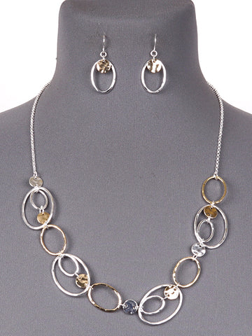Oval Chain Necklace Set