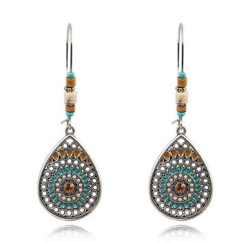 Teardrop with Bead Earrings