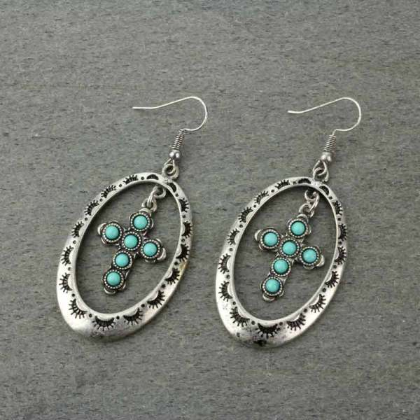 Navajo Style Cross Earrings