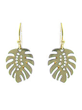 Palm Leaf Pendant Earrings