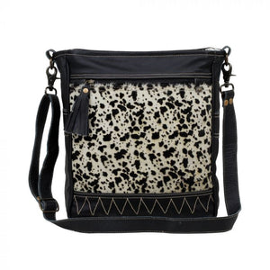 NAIVE LEATHER & HAIRON BAG