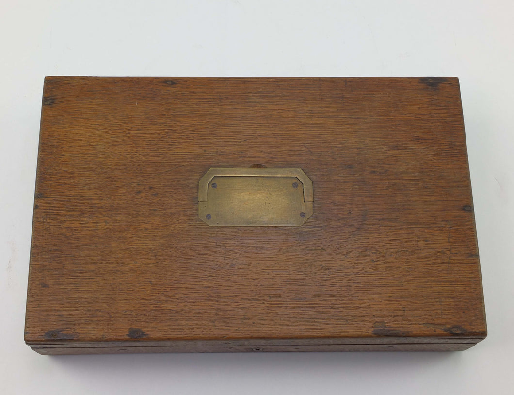 An Oak Gun Case. SN X1732