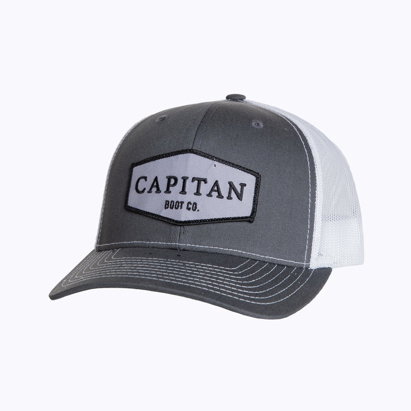 Boot Co Patch Cap Charcoal Cap - Capitan Boots