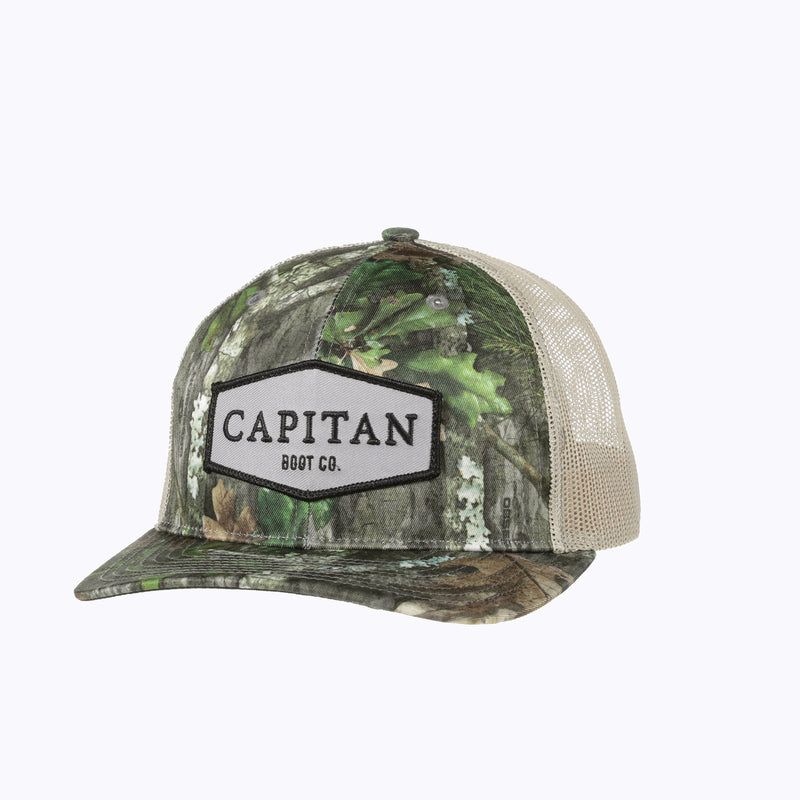 Boot Co Patch Cap Mossy Oak Obsession Camo Cap - Capitan Boots