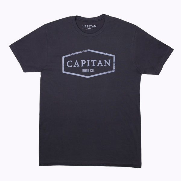 Boot Co Vintage Black Mens T-Shirt - Capitan Boots