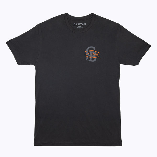 The Logan Vintage Black Mens T-Shirt - Capitan Boots