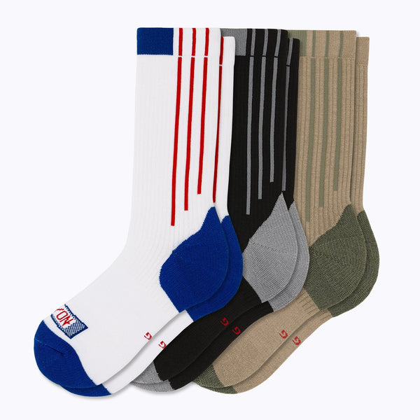 Americana Crew Sock 3 Pack Mix Mens Socks - Capitan Boots