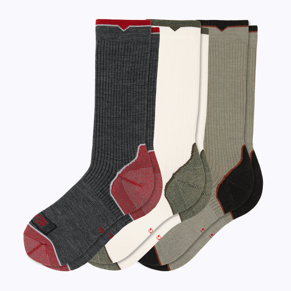 Essential Crew Sock 3 Pack Mix Mens Socks - Capitan Boots
