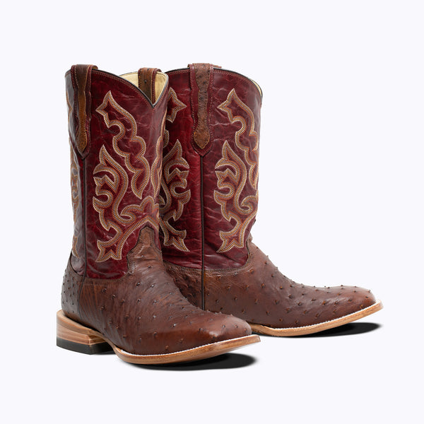Reno Full Quill Ostrich Boot - Capitan Boots