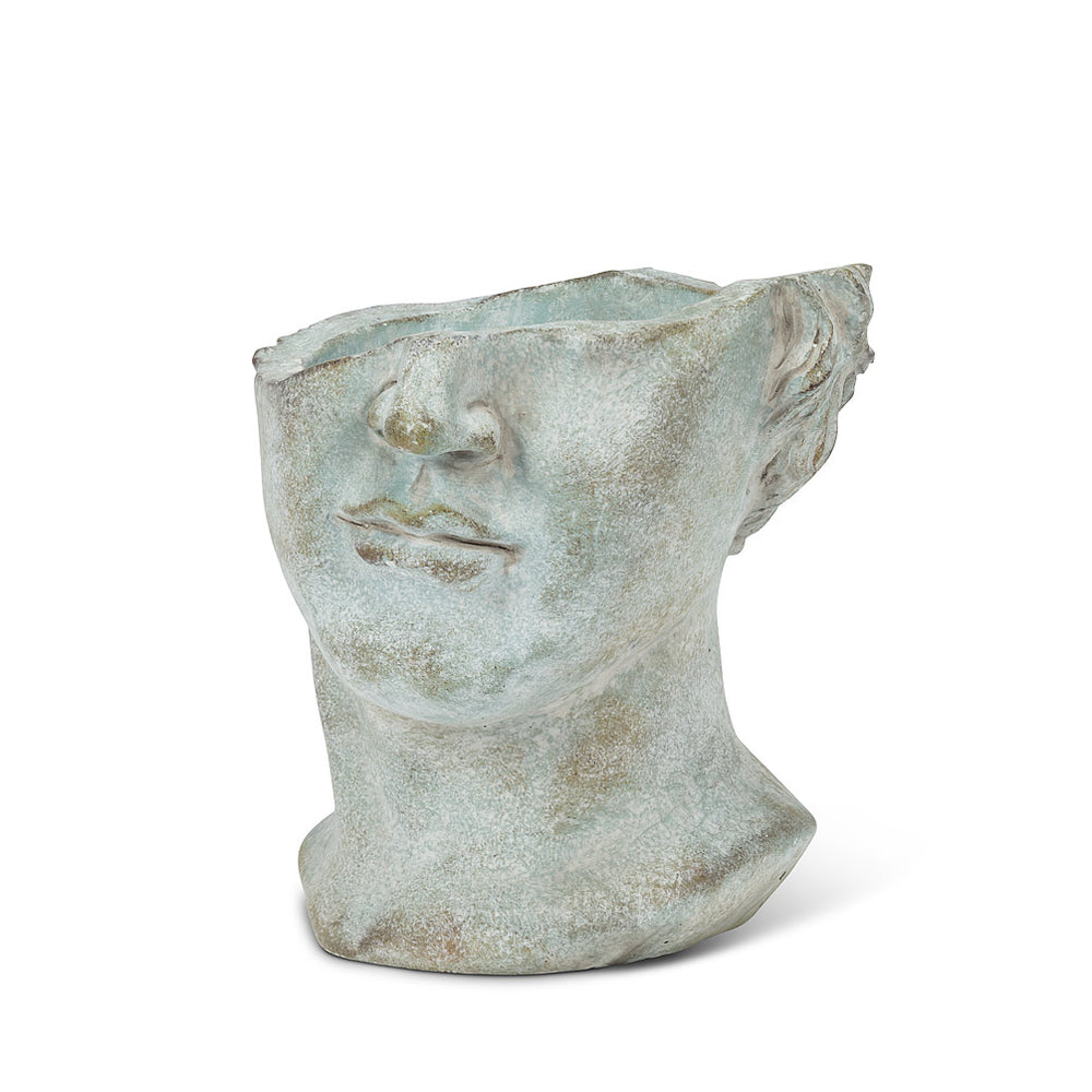 "Load image into Gallery viewer, Half Male Face Planter 7""HXO: 5x5.5""L"