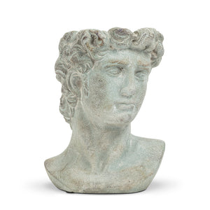 "Load image into Gallery viewer, Medium Male Head Planter 9""HXO:4"""