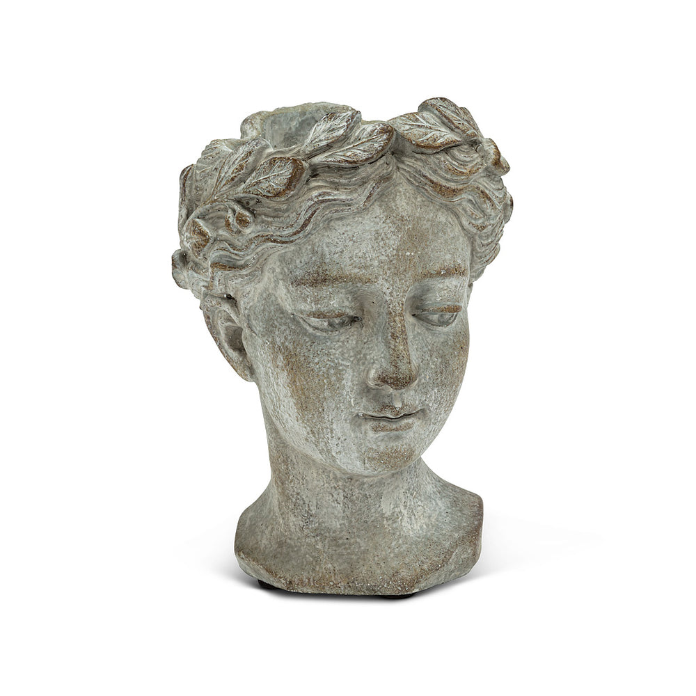 "Extra Small Woman Head Planter 6.5""H X O:3"""